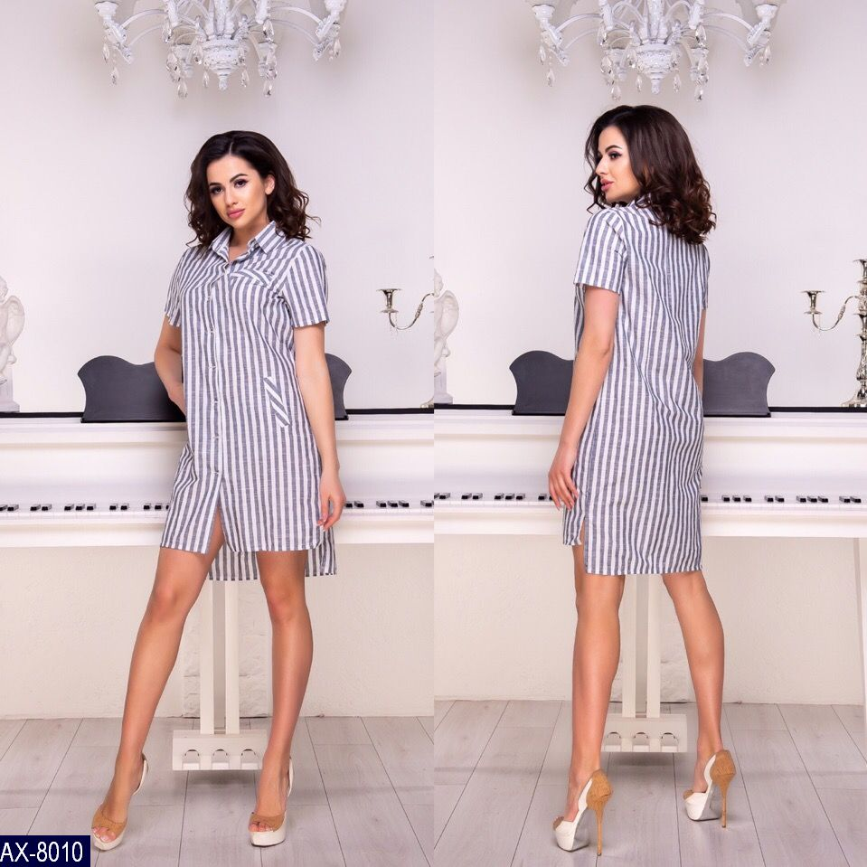 Платье-рубашка AX-8010